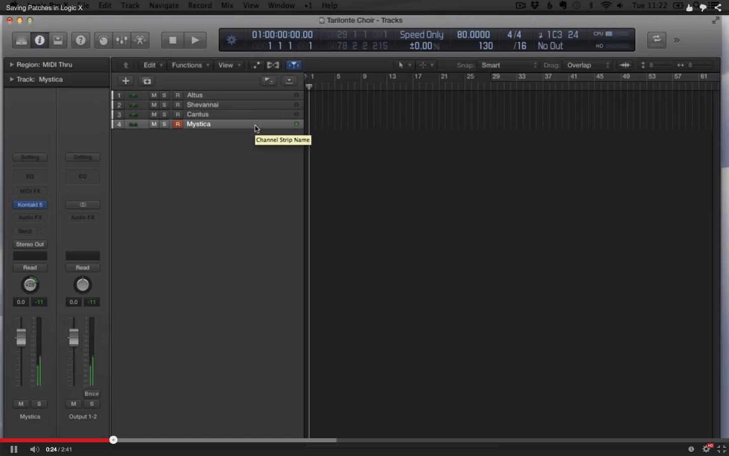 Saving Patches in Logic X