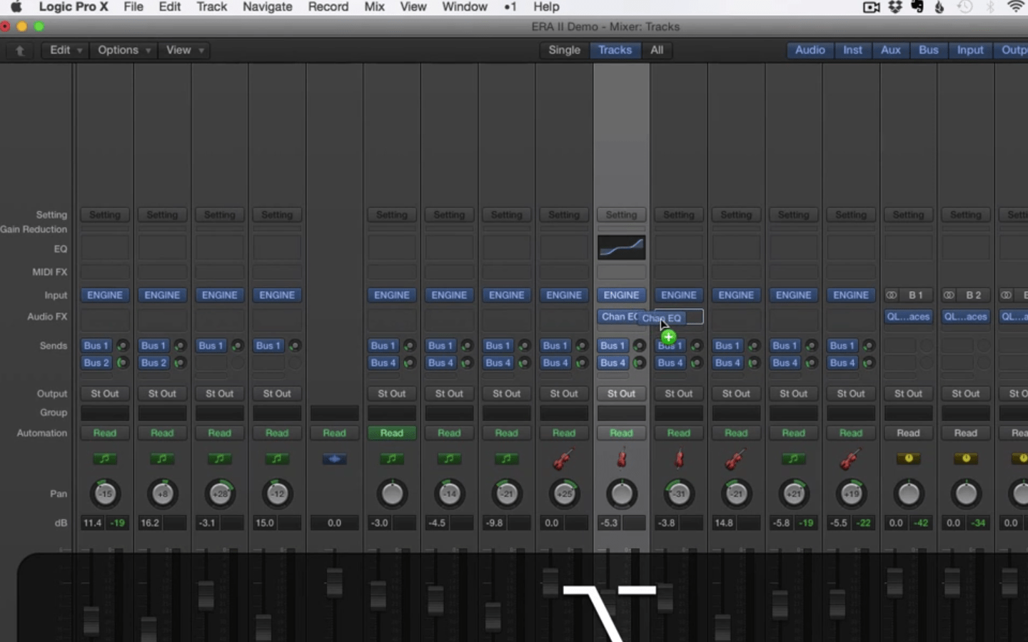 Drag and Copy Plugins in the Mixer